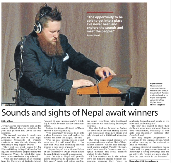 From the Waikato Times, June 9, 2014.